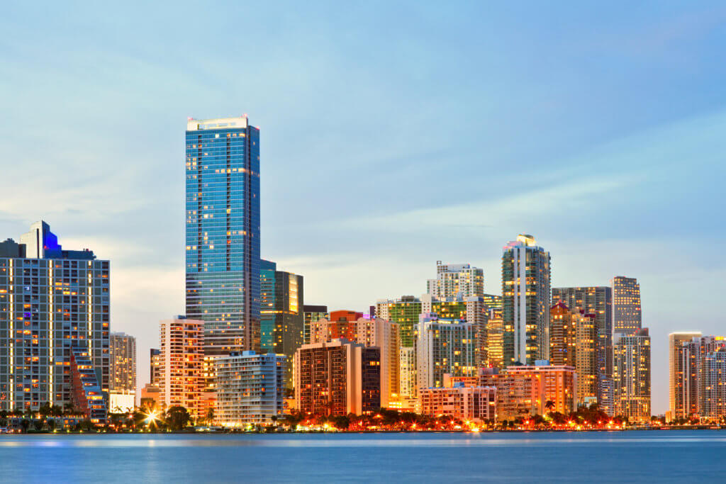 illuminated-Miami-City-with-Sunrise